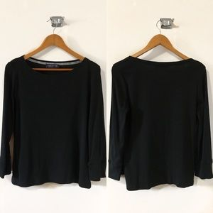 Jones New York Black Long Sleeve Top
